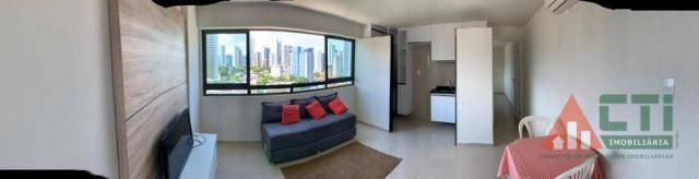 Flat com 1 dormitório para alugar, 40 m² por R$ 2.000,00/mês - Madalena - Recife/PE - Foto 5