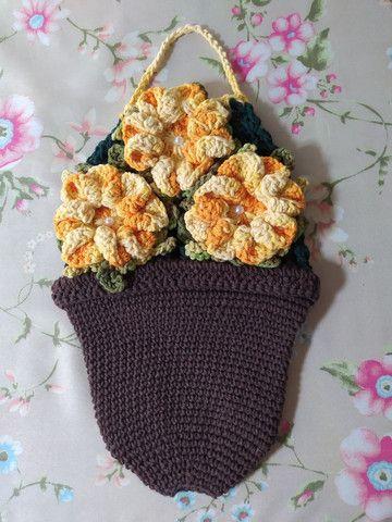 Puxa saco de crochê  - Foto 3