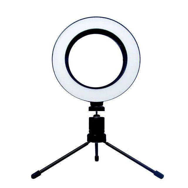 Ring Light Led Iluminador Tripé 6 polegadas 16 cm A Melhor