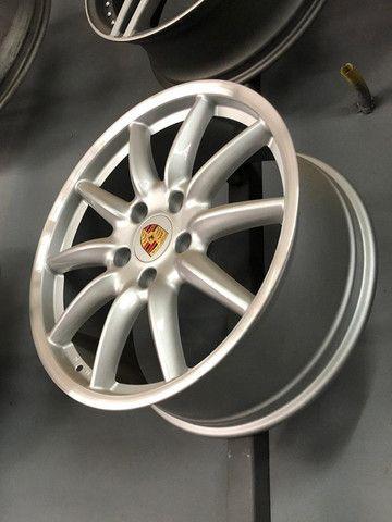 Rodas Originais Porsche 19 5x130 Duas talas - Foto 3