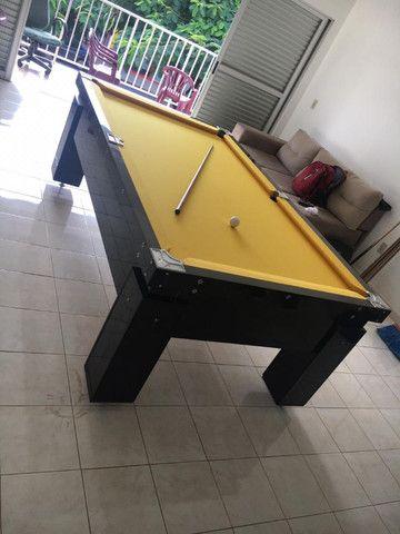 Mesa Gaveta de Bilhar Cor Preta Tecido Amarelo Mod. PBEM6359 - Foto 2