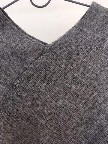 Pala cinza em tricot - Foto 2