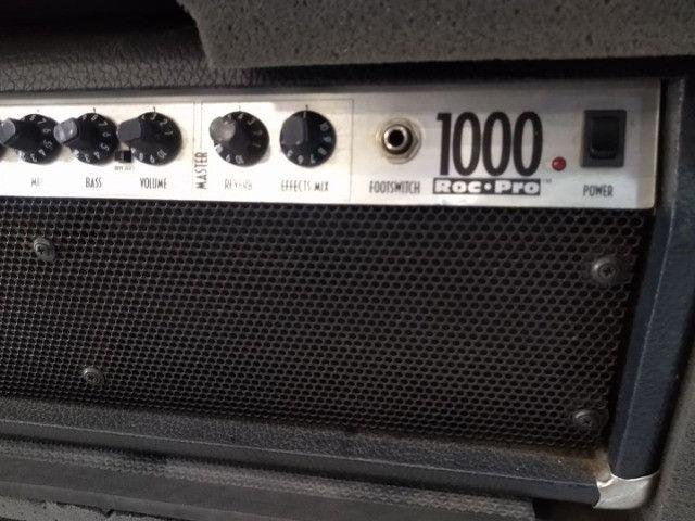 Cabecote Fender Roc-Pro 1000 c caixa Fender p guitarra (Mixer Instrumentos Musicais) - Foto 3