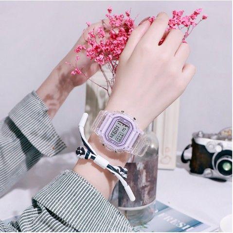 Relógio de pulso eletrônico com luz de LED - Frete grátis - Foto 2