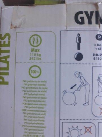 Bola de pilates grande 55cm + Bola de pilates com peso - Foto 6
