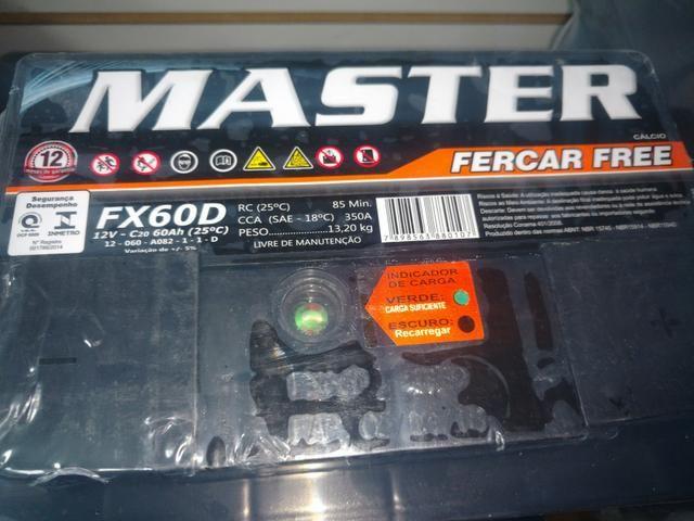 Bateria 60 ah master selada blindada - Foto 2