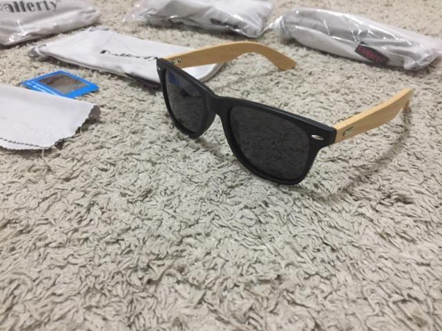 68cacddd9 Óculos De Sol Unissex Com Haste Em Bambu - Bijouterias, relógios e ...