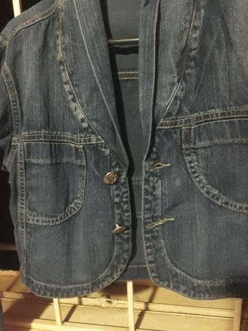 Jaqueta jeans curta tamanho M - Foto 2