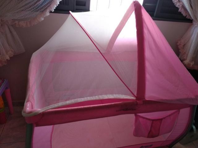 Berço desmontável rosa - Foto 4