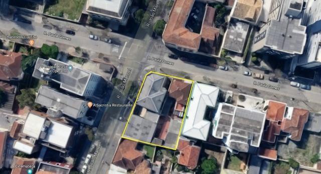 Terreno para venda Rua Paula Gomes (Bairro São Francisco) - Curitiba