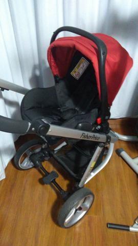 Carrinho Moisés + Bebê conforto c/ base isofix Fischer Price - Foto 3