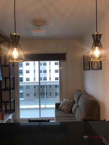 Apartamento com 1 dormitório para alugar, 40 m² por R$ 1.800,00/mês - Jardim Tarraf II - S - Foto 7