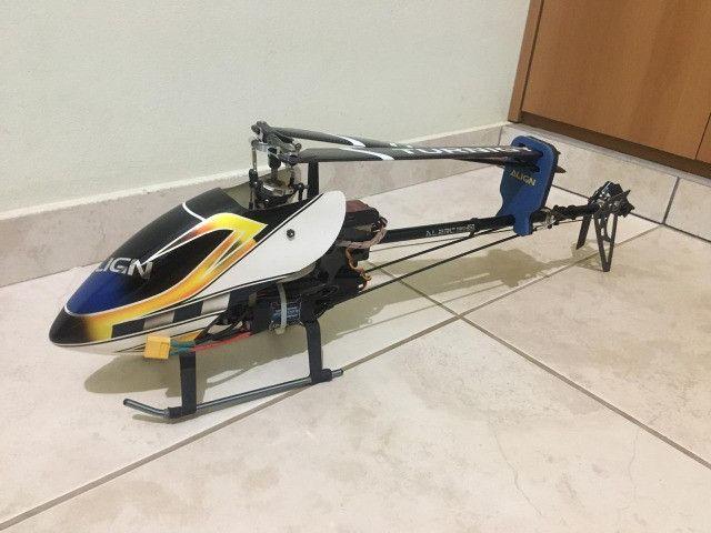 Vento/ Troco T-rex Alzrc 450 Fbl + HK 500 TT Fbl + Radio DX6i - Foto 3
