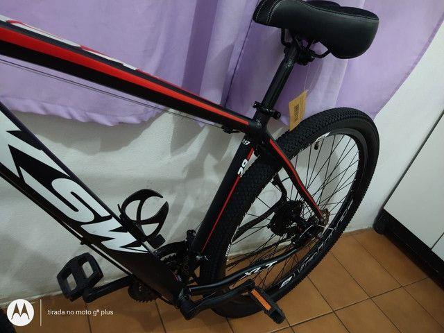 Bicicleta aro 29 KSW 21 marchas Praticamente Nova - Foto 6