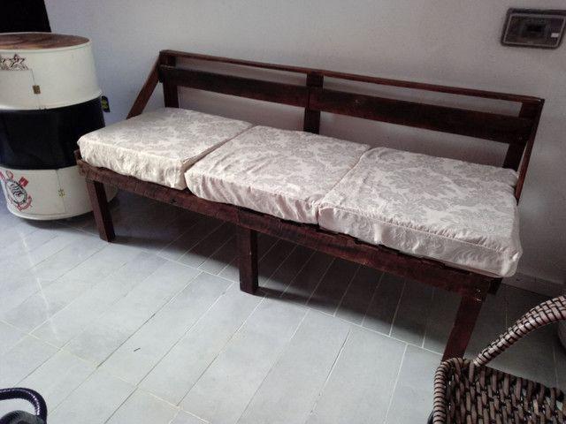 Sofa 3 lugares rústico  - Foto 2
