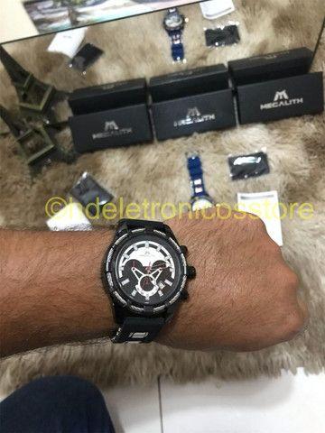 Relógio Megalith Esportivo DE pulso Silicone Original, A prova de agua - Foto 5