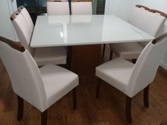 Mesa com 8 Cadeiras em Madeira Direto da Fábrica! - Foto 4