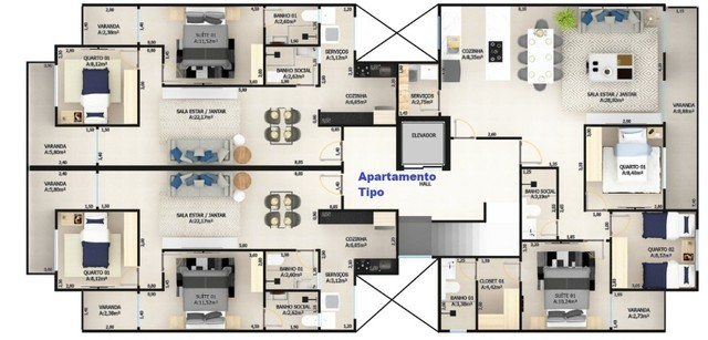 Viva Urbano Imóveis - Apartamento no Jardim Amália - AP00065 - Foto 2