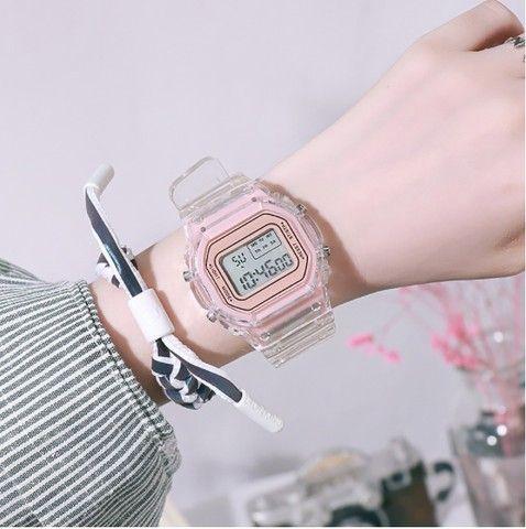 Relógio de pulso eletrônico com luz de LED - Frete grátis
