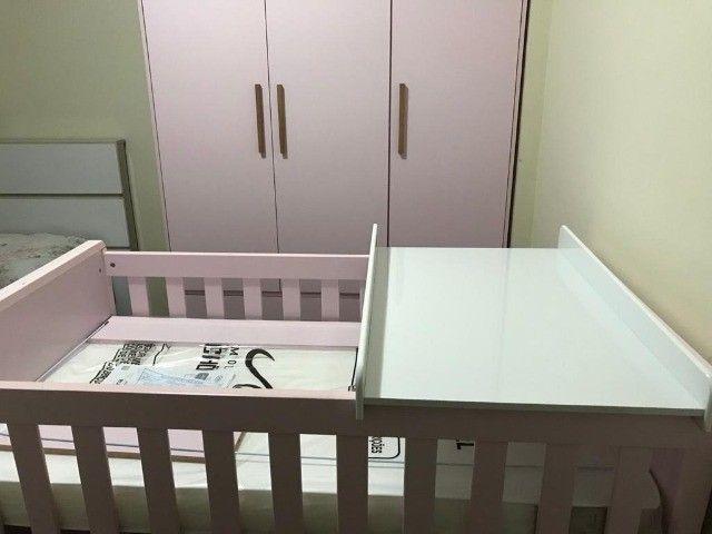 Kit: Berço e Guarda-Roupas para Bebê - Foto 2