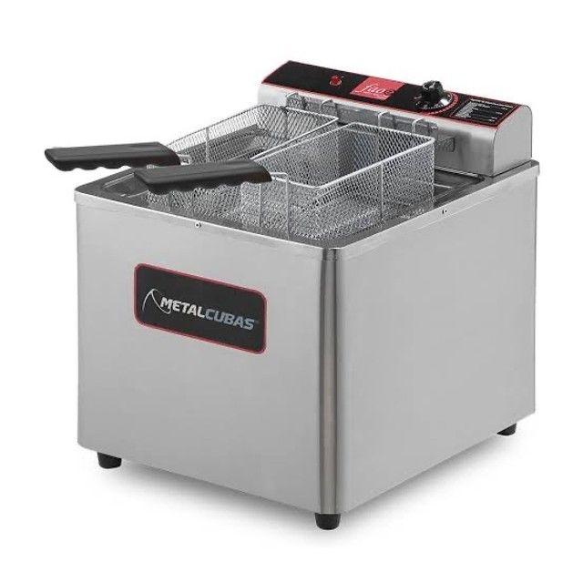 Fritadeira água e óleo elétrica - JM equipamentos