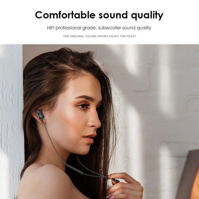 4D Bass Stereo Earphone Double Speaker 3.5MM Earphones - Foto 6