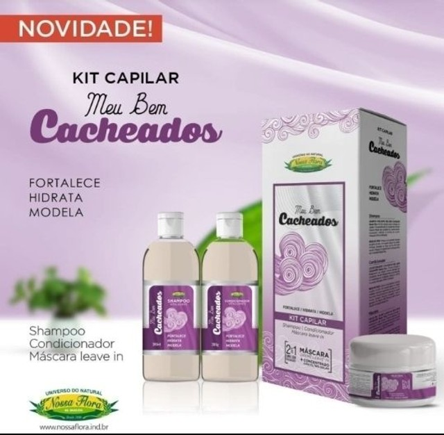 Kit capilar Meu Cacheados Fortalece Hidrata Modela