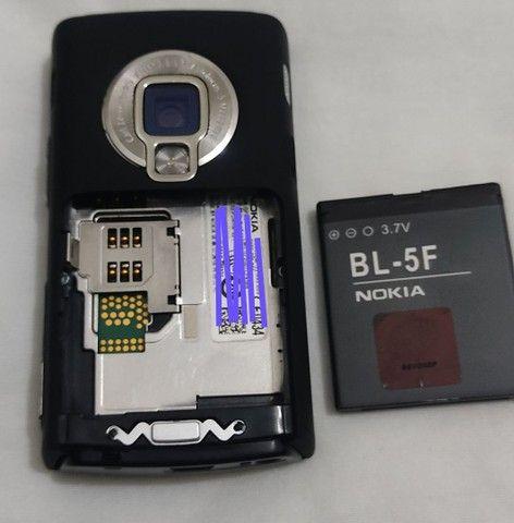 Nokia N95 8Gb em excelente estado com película na tela para colecionador - Foto 5