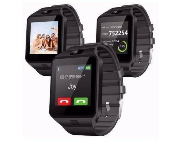 1fee0345a96 Relógio Celular Smartwatch   Zd09 Chip Câmera Som Memória ...
