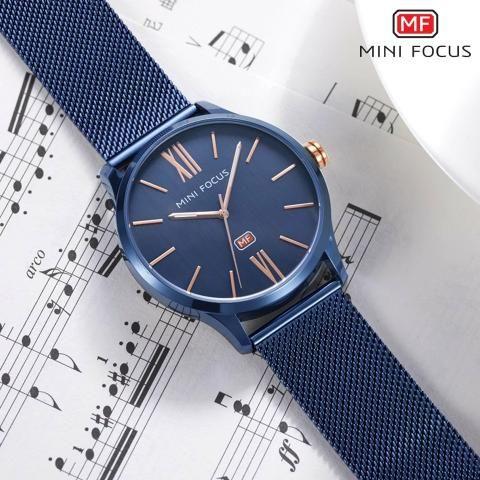 a8901a2155a Relógio Mini Focus azul feminino prova d água Promoção - Bijouterias ...
