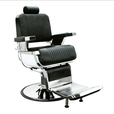 Cadeira Hidráulica e Reclinável Salão Ou Barbearia Nova com Garantia