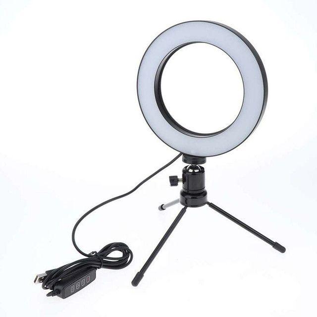 Ring Light Led Iluminador Tripé 6 polegadas 16 cm A Melhor - Foto 2