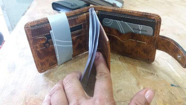 Carteiras couro R$ 10,50 a partir 10 unidades fazemos entrega . - Foto 3