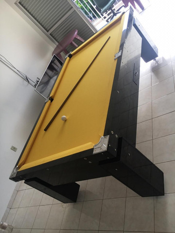 Mesa Gaveta de Bilhar Cor Preta Tecido Amarelo Mod. PBEM6359 - Foto 3