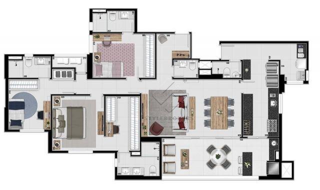 Apartamento com 3 dormitórios à venda, 137 m² por R$ 927.120,00 - Ária - Cuiabá/MT - Foto 20