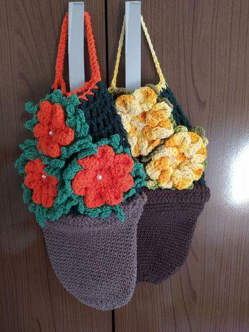 Puxa saco de crochê  - Foto 2