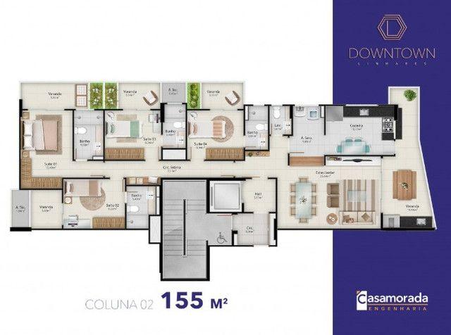 Apartamento 4 quartos, 4 suítes, 3 vagas cobertas no Downtown Linhares - Foto 14
