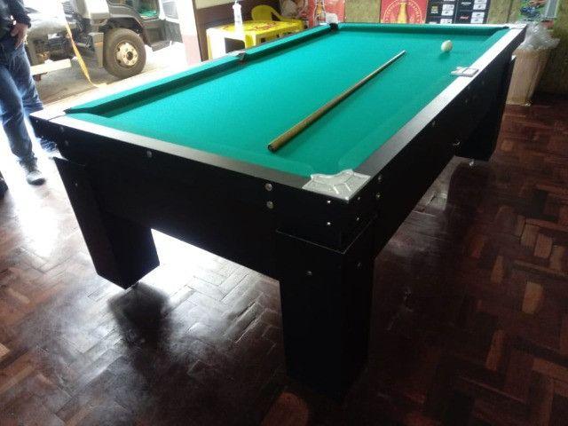 Mesa Gaveta e Jantar Cor Preta Tecido Verde Mod. UKWS1060 - Foto 2