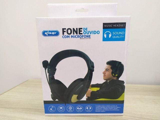 Fone de Ouvido Com Microfone Para PC - Foto 3