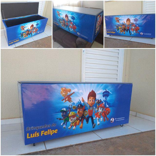 Caixa de brinquedos 40x50x70cm  - Foto 3