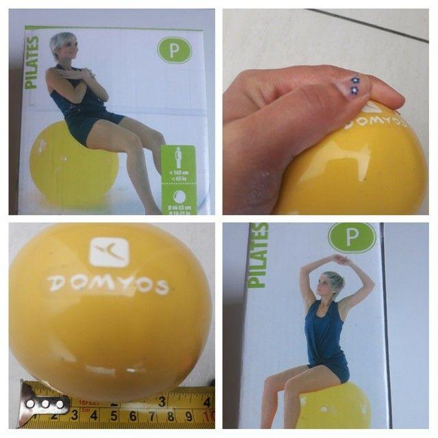 Bola de pilates grande 55cm + Bola de pilates com peso