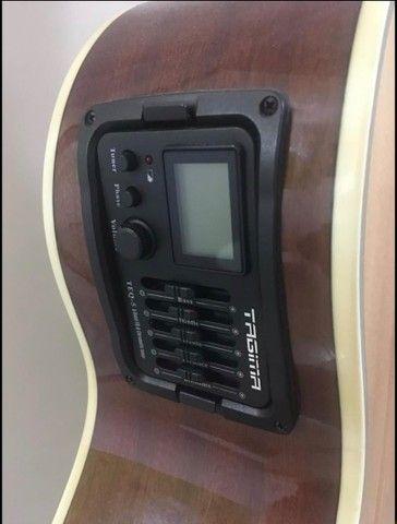 Violão Eletroacústico Tagima Dallas + Suporte De Parede C/ Trava Automatica - Foto 2