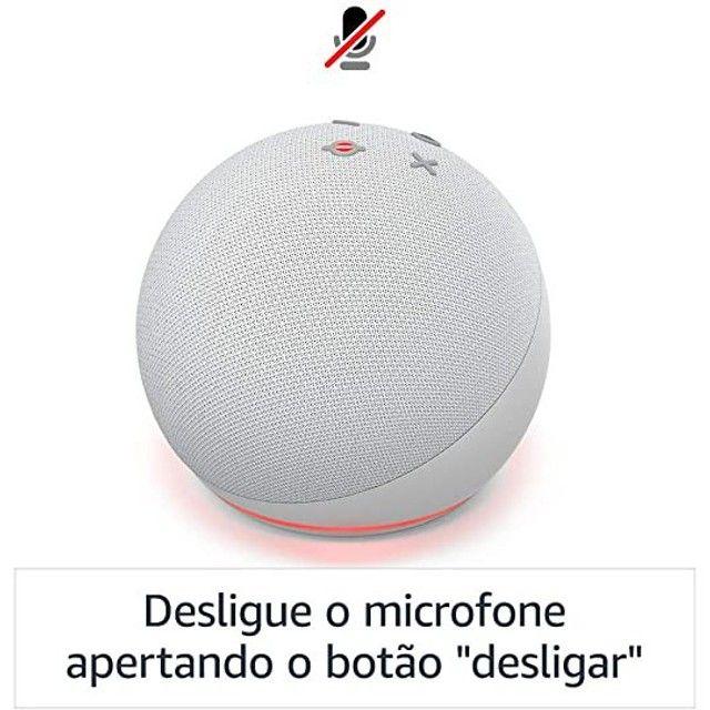 Novo Echo Dot (4ª Geração): Smart Speaker com Alexa - Cor Azul - Foto 5