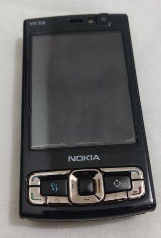Nokia N95 8Gb em excelente estado com película na tela para colecionador