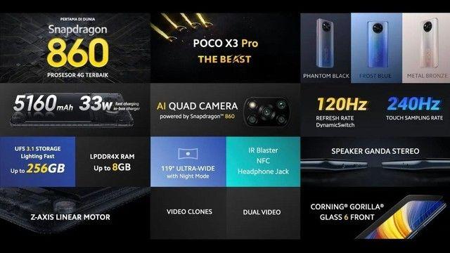 Celular Xiaomi Poco X3 Pro 256 GB 8 GB RAM - Foto 2