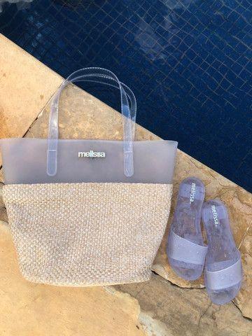 Kit Praia Melissa Bolsa + Chinelo Beach Verão Lançamento 2021 - Foto 2