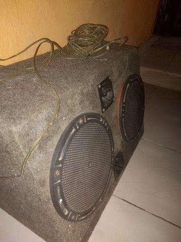 Caixa de som 2 altifalantes e dois  tweeter - Foto 4