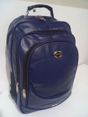 Mochila de couro sintético , mala de mão, academia, viagem, faculdade, etc. (Produto novo) - Foto 2