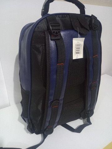 Mochila de couro sintético , mala de mão, academia, viagem, faculdade, etc. (Produto novo) - Foto 3