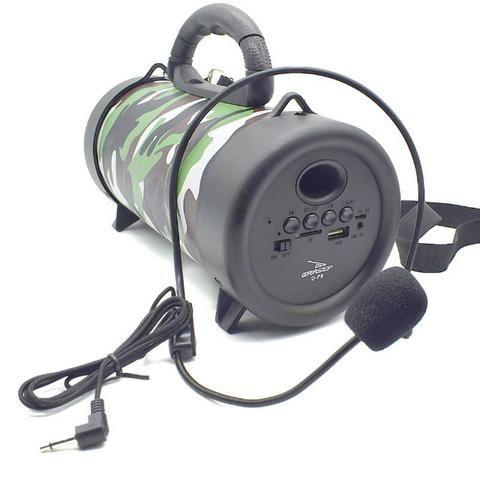 Caixa de Som Portátil Bluetooth D-P8 Grasep Pen Drive Mp3 Radio Fm Amplificada - Foto 2